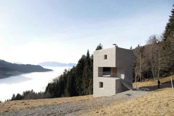 Horská chata v Laternserském údolí