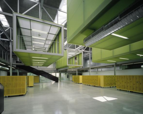 Atelier D- velkoprostorová učebna katedry architektury Fakulty stavební ČVUT