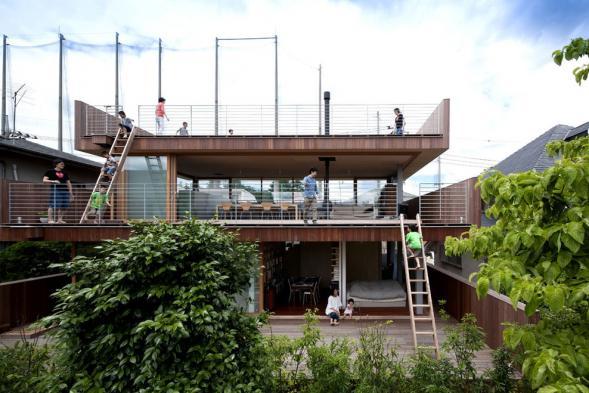 Dům s obytnou střechou