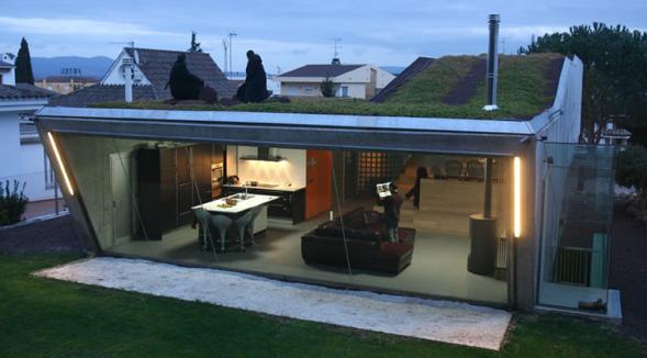 Dům s hydroponickou střechou