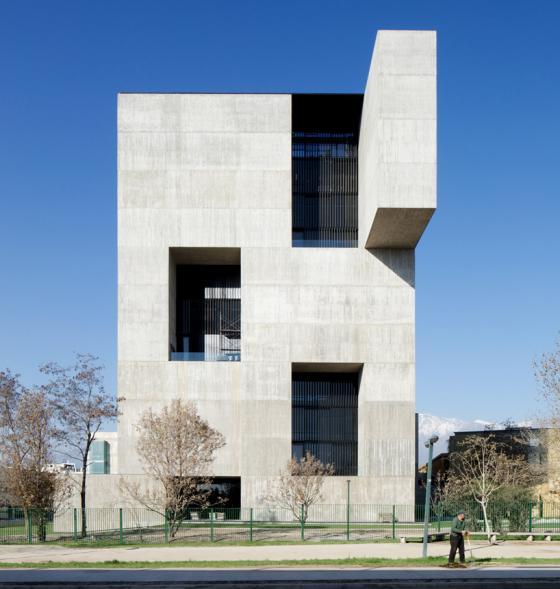 Betonové inovační centrum v Chile