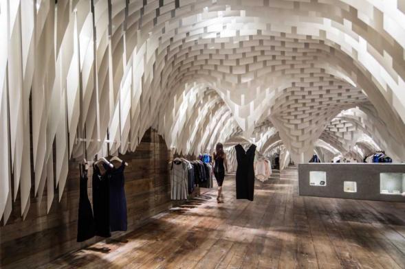Interiér módního obchodu v Chongqing