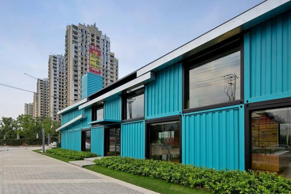Kontejnerové kanceláře v Šanghaji