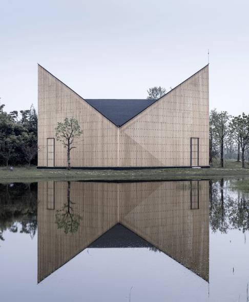 Nanjing Wanjing kaple v zahradě