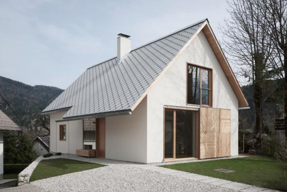 Moderní dům v národním parku Triglav