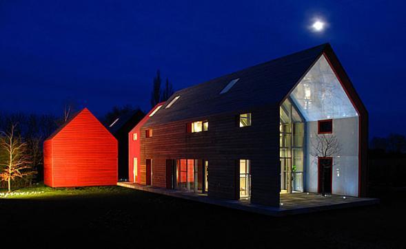Dům s posuvnou střechou