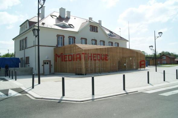 Přistavěná mediatéka Dannemarie
