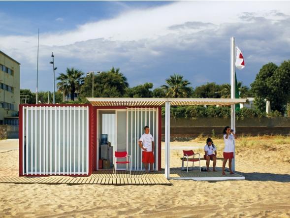 Modulární plážové domky
