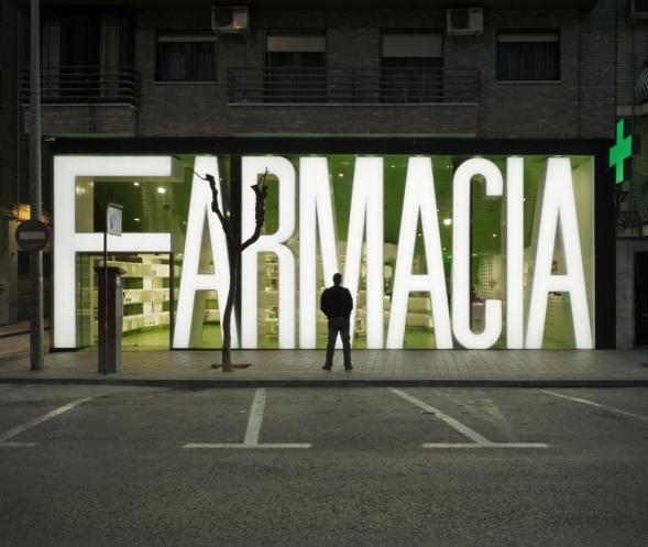 Nevšední lékárna v Murcii