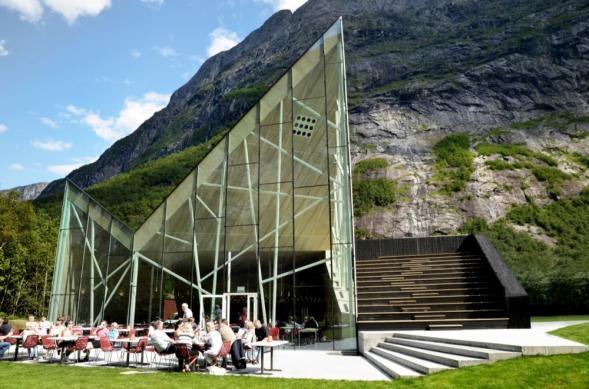 Restaurace v norském Trollweggen