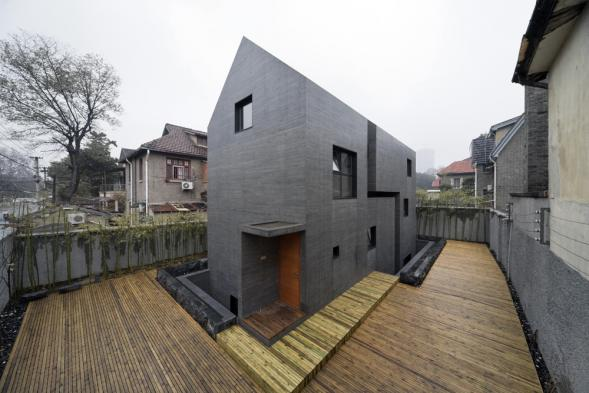 Rozkrojený betonový dům