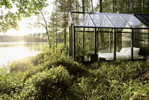 Zahradní sklad s ložnicí