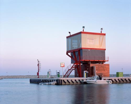 Kontrolní vež v přístavu Ragusa